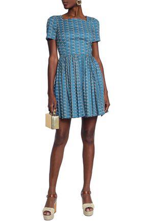 DOLCE & GABBANA Printed cotton-blend mini dress
