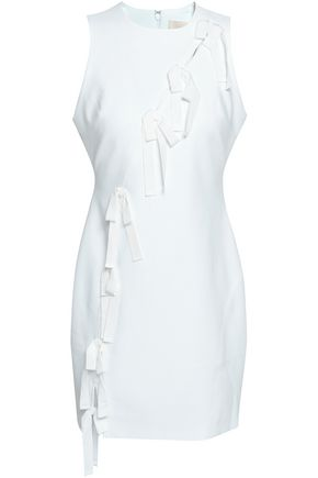 CINQ À SEPT Vita bow-embellished cutout cady mini dress