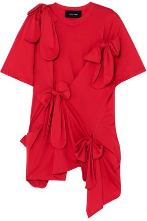 SIMONE ROCHA Bow-detailed cotton-jersey top