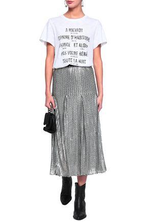 CINQ À SEPT Alita printed slub jersey T-shirt