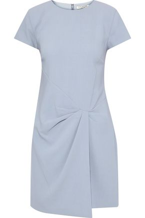 HALSTON HERITAGE Pleated cady mini dress