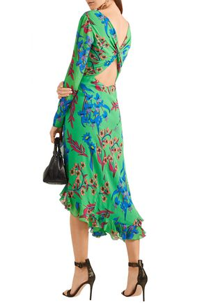 7e0a1c99b3b ETRO Twist-back asymmetric floral-print silk-georgette midi dress