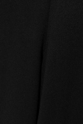 HALSTON HERITAGE Tie-back cutout crepe jumpsuit