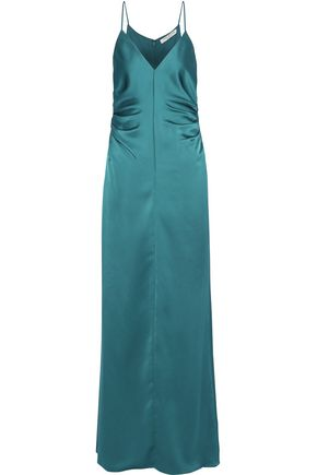 Ruched Satin Gown by Halston Heritage