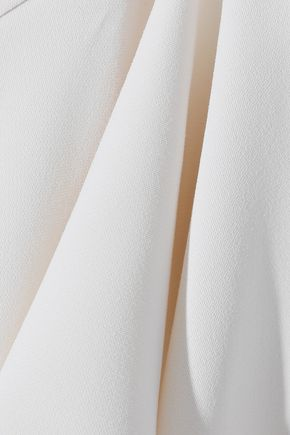 HALSTON HERITAGE One-shoulder cutout layered cady tunic