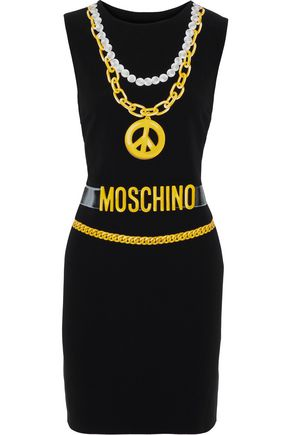 MOSCHINO Printed stretch-crepe mini dress