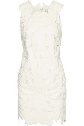 HALSTON HERITAGE Broderie anglaise mini dress