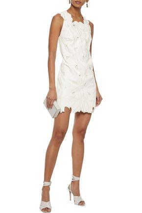 HALSTON HERITAGE Broderie anglaise mini dress