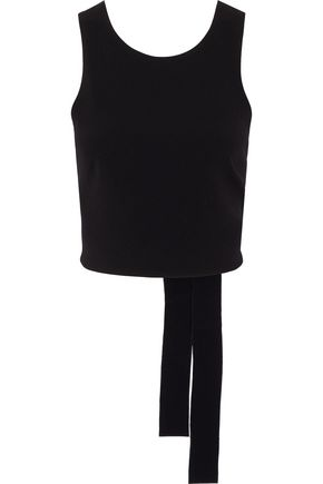 DEREK LAM 10 CROSBY Open-back crepe top