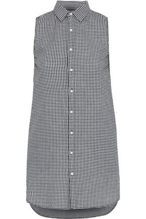 ONIA Kaylee gingham cotton-poplin mini shirt dress