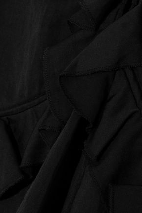 DEREK LAM 10 CROSBY Ruffle-trimmed faille top