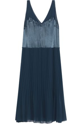 BY MALENE BIRGER Carrol pleated chiffon and satin midi dress
