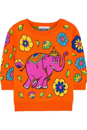 MOSCHINO Cotton-jacquard sweater