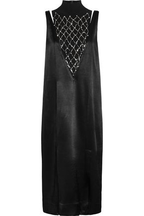 BY MALENE BIRGER Leosa embellished chiffon-paneled satin midi dress