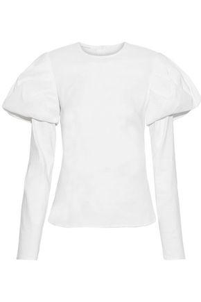 BEAUFILLE Nysa linen-blend poplin blouse