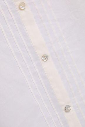 CINQ À SEPT Soko crochet-trimmed pintucked cotton-gauze tunic