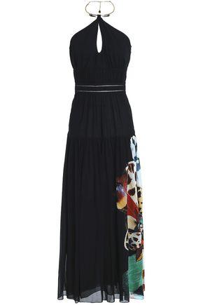 ROBERTO CAVALLI Printed silk-voile maxi dress