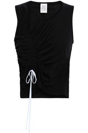 CINQ À SEPT Ruched cotton-jersey top