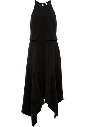 Asymmetric Cutout Stretch Crepe Dress by Halston Heritage