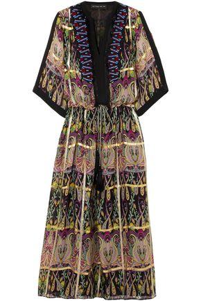 ETRO Embellished printed silk-blend jacquard maxi dress