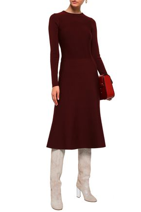 AGNONA Fluted wool-blend dress