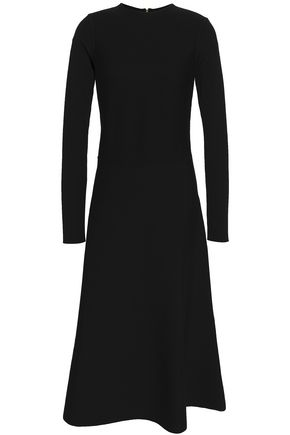 AGNONA Fluted wool-blend dress