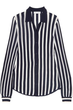 GABRIELA HEARST Carter striped wool shirt