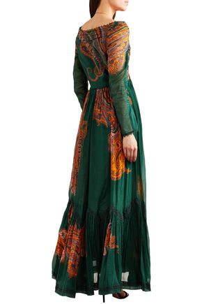 ETRO Printed cotton and silk-blend maxi dress