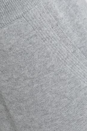 SKIN リブ編み コットン混 パジャマショートパンツ