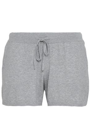 SKIN Vic mélange ribbed cotton-blend jersey pajama shorts