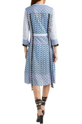 ALTUZARRA Grenelle broderie anglaise and Swiss-dot cotton midi dress