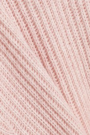 SKIN リブ編み コットン混 セーター