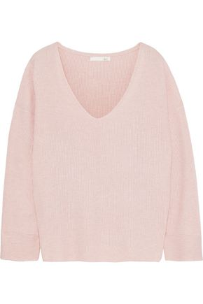 SKIN Veronica ribbed cotton-blend sweater