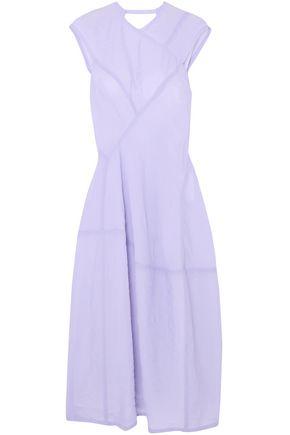 VICTORIA BECKHAM Crinkled-organza midi dress