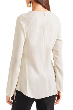 MARNI Ruched crepe blouse