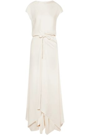 MARNI Draped crepe maxi dress