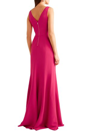 ANTONIO BERARDI Fluted stretch-cady gown