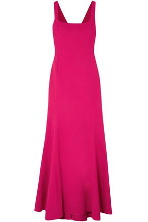 ANTONIO BERARDI Fluted stretch-cady gown
