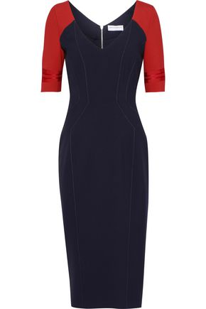 AMANDA WAKELEY Two-tone cady dress