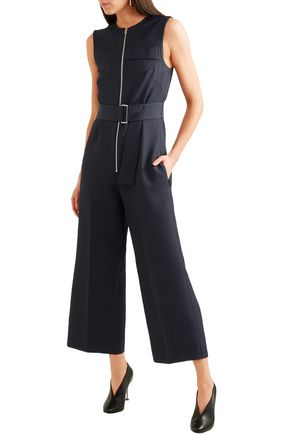 VICTORIA BECKHAM Cropped woven jumpsuit