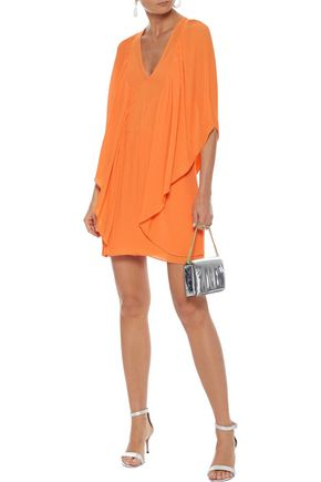 BY MALENE BIRGER Draped plissé-chiffon mini dress
