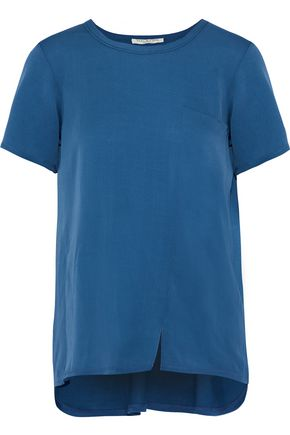 HALSTON HERITAGE Silk-blend jersey T-shirt