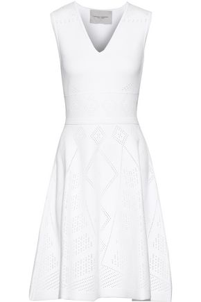 CAROLINA HERRERA Flared pointelle-knit dress