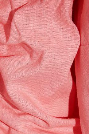 PETERSYN Mesa off-the-shoulder cotton-seersucker top