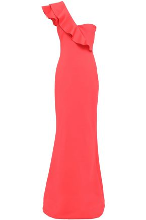 One Shoulder Scuba Maxi Dress by Black Halo