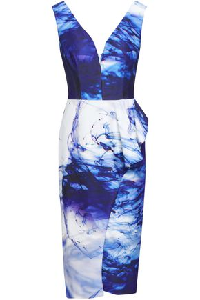 BLACK HALO EVE by LAUREL BERMAN Printed stretch-jersey dress