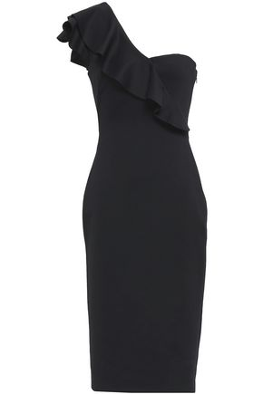 BLACK HALO EVE by LAUREL BERMAN One-shoulder neoprene dress