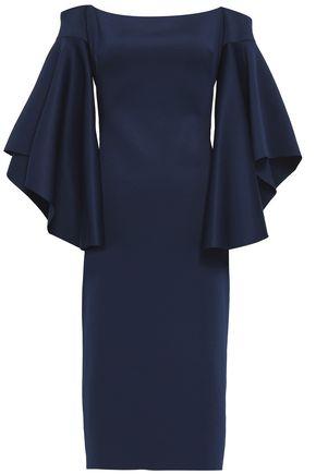 BLACK HALO Off-the-shoulder scuba dress