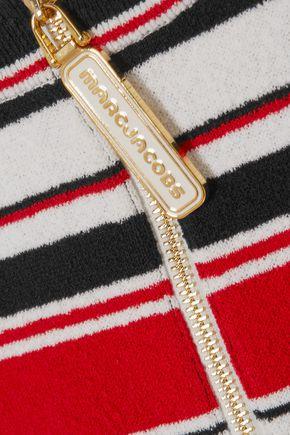 MARC JACOBS Striped cotton-blend terry T-shirt