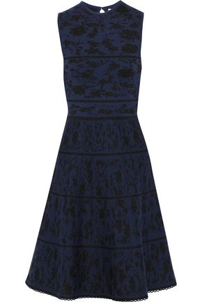 CAROLINA HERRERA Metallic wool-blend jacquard dress